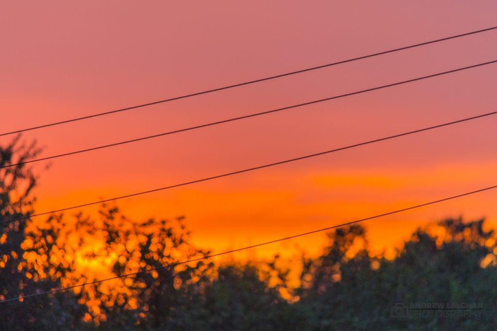 Sunset in Watford - August 2017