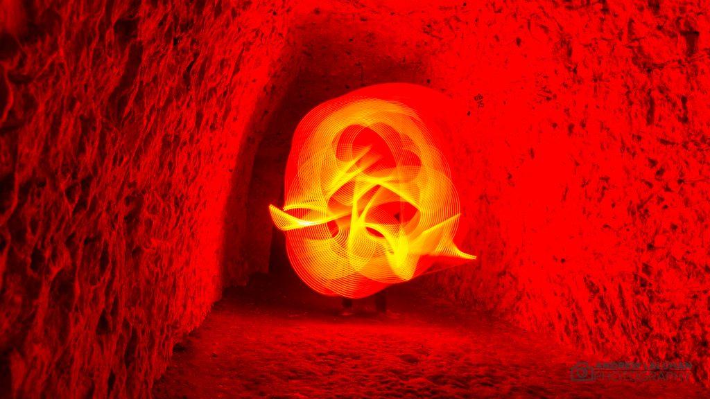 Chislehurst Caves - light painting