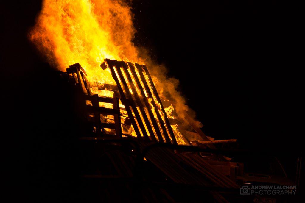 Bonfire was lit