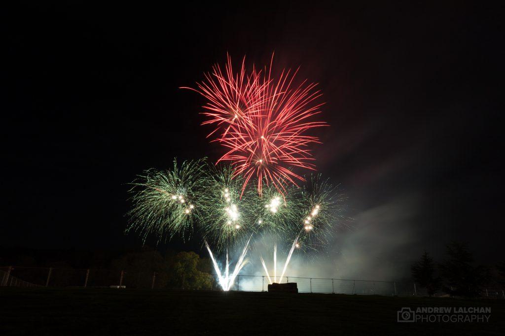 Fireworks in Cassiobury Park