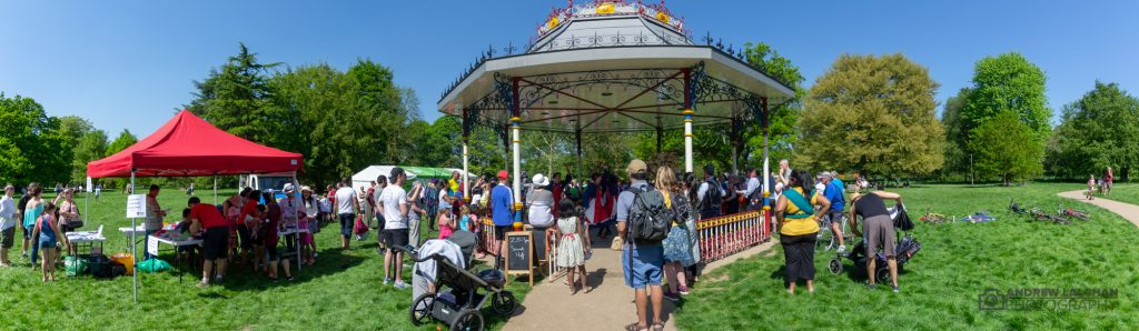 May Day at the bandstand