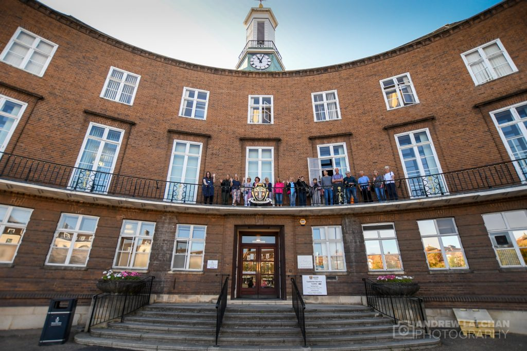 Watford Town hall - Group shot on the tour