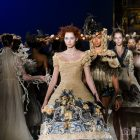 Guo Pei catwalk at the V&A
