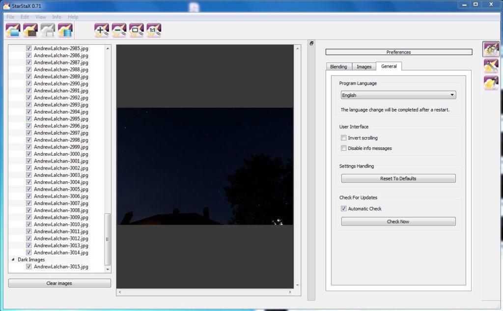 StarStax - Add your dark image