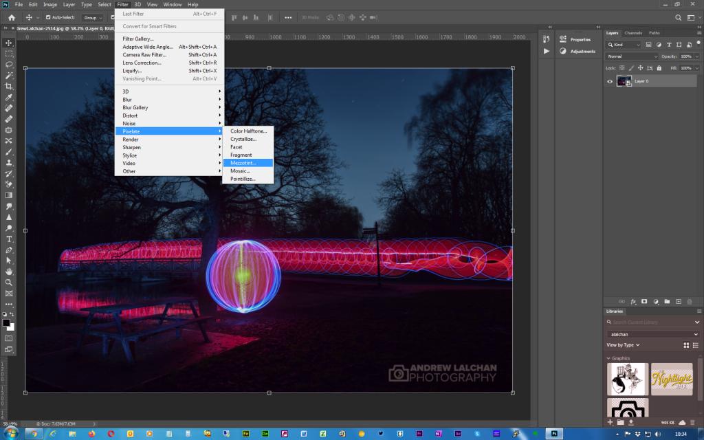 Adobe Photoshop - Twirl effect - Step 2