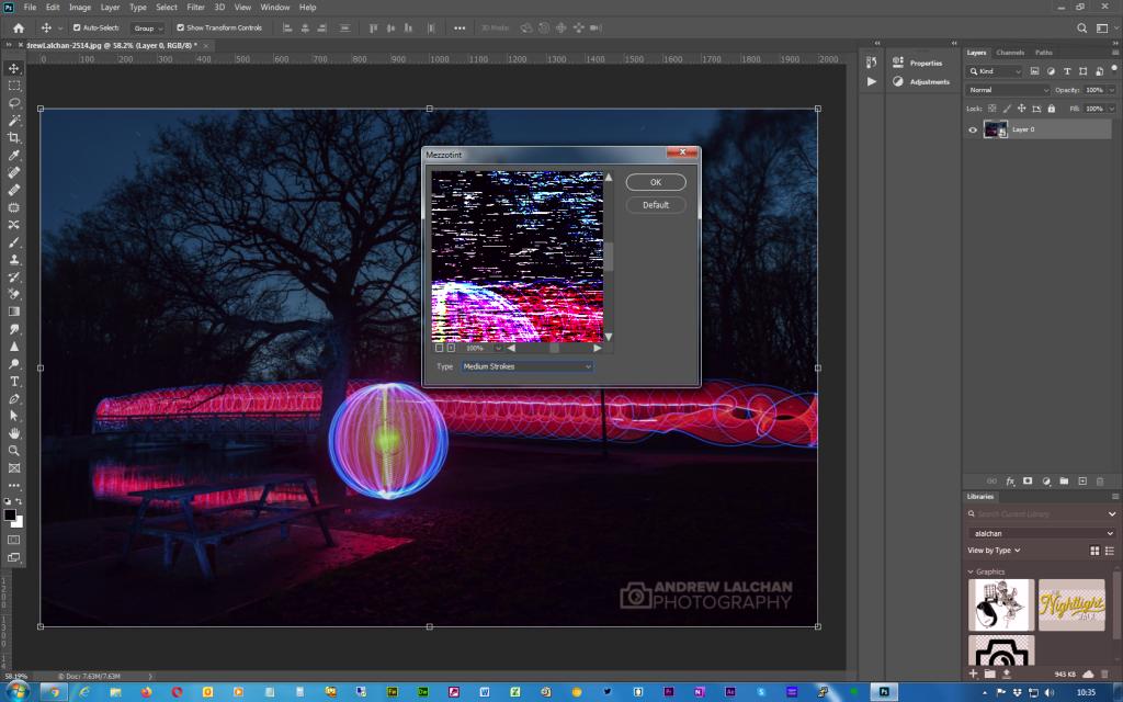 Adobe Photoshop - Twirl effect - Step 3
