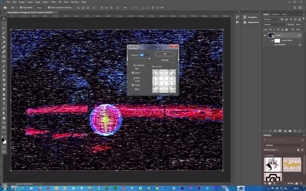 Adobe Photoshop - Twirl effect - Step 5