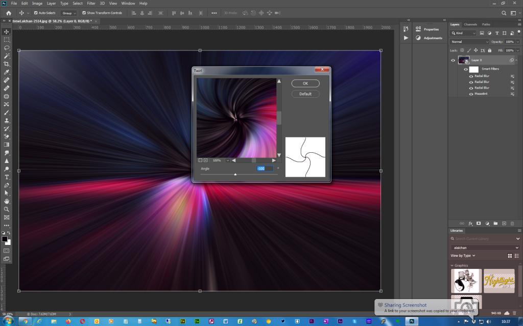 Adobe Photoshop - Twirl effect - Step 7