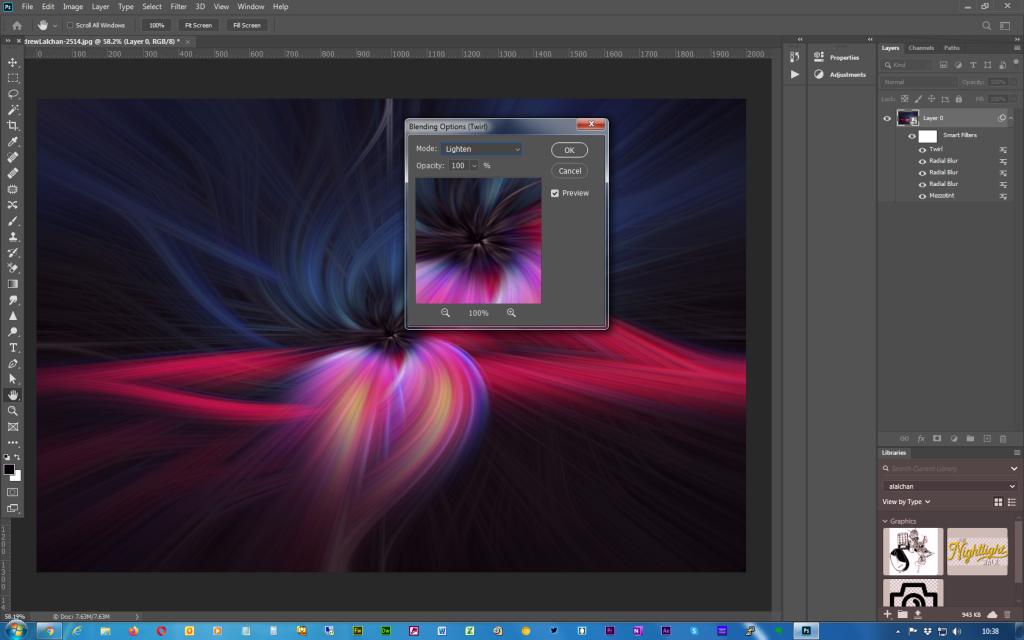 Adobe Photoshop - Twirl effect - Step 8