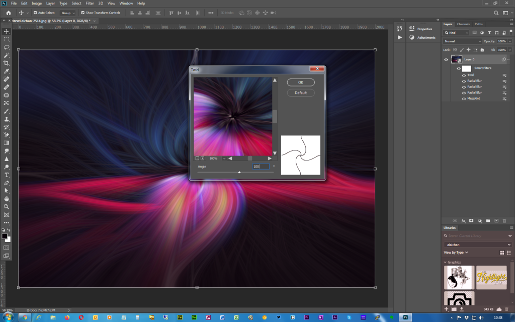 Adobe Photoshop - Twirl effect - Step 9