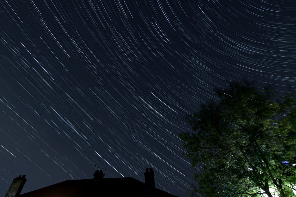 Star trails across Watford