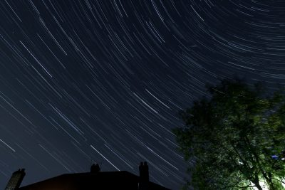 Star trails across Watford